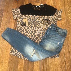 Crazy Train Lace & Leopard Top!